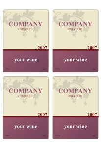 wine label template wineb