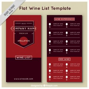 wine list template wine list template in flat style