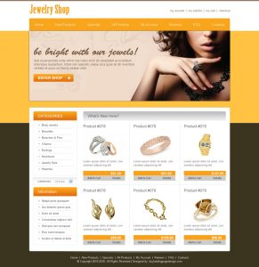 wix web template best jewelry shop online website template design psd