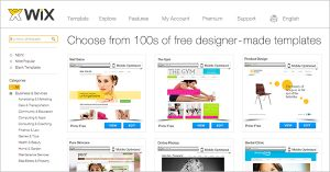 wix websites templates templates en