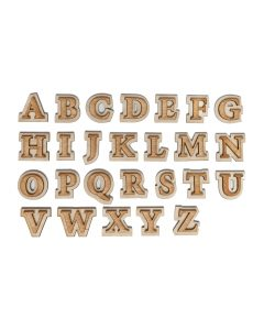 wooden alphabet letters double layer alphabet