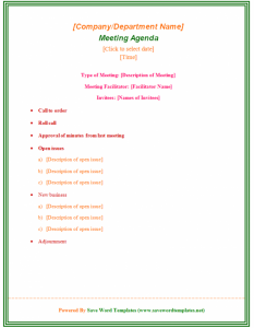 word certificate template business templates formal business meeting agenda template sample
