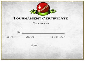 word certificate template certificate for cricket tournament
