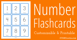 word flash card template number flash cards