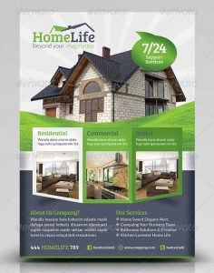 word flyer templates indesign real estate flyer psd template