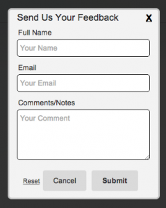word form template css feedback form