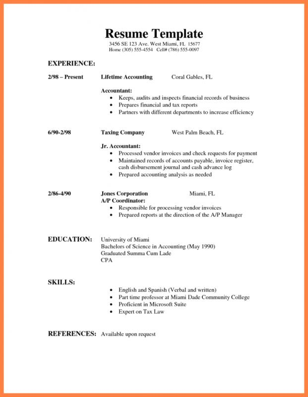 word form template