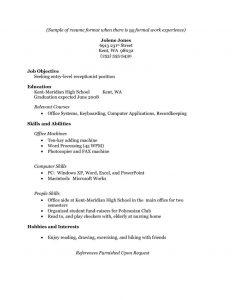 word form template fbeffebdffdafa sample resume resume format