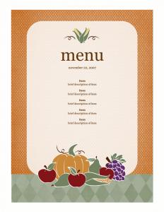 word menu template ddceaddft