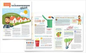 word newsletter template homeowners association newsletter template min