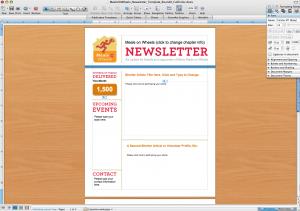 word newsletter template template business
