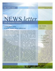 word newsletter template newsletter template