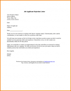 word newsletter templates rejection letter template job applicant rejection letter