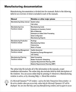 Work Instruction Template Manufacturing