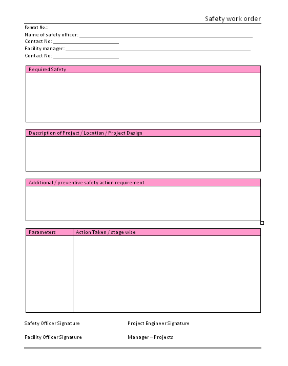 work order template word
