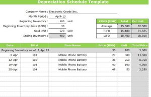 work out schedule templates depreciation schedule template image