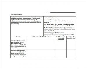 work plan template work plan template free download