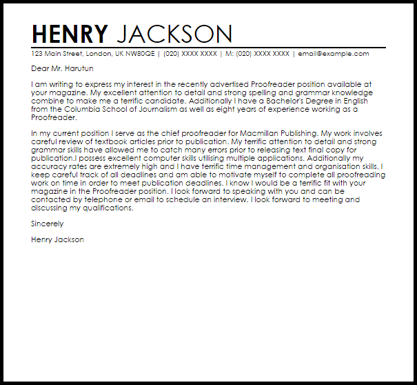 work reference letter