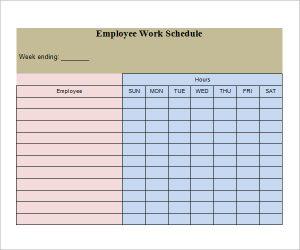 work schedule template employee work schedule template3