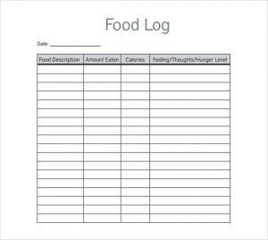 workout journal template food log template download in pdf