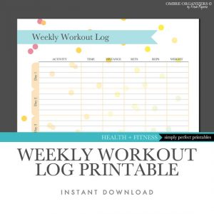 workout journal template il xn n