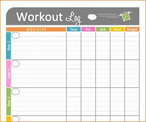 workout journal template printable fitness journal il fullxfull r
