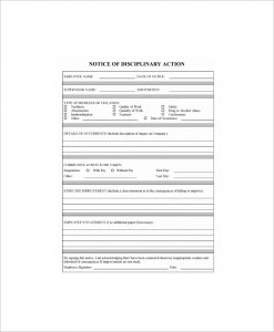 write up at work employee write up form
