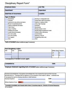 write up form employee write up disciplinary notice form x