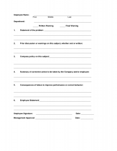write up form printable disciplinary write up forms for employees