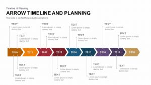 write up template arrow timeline and planning
