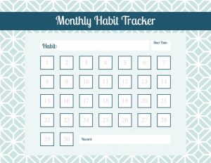 write up template habit goal tracker x
