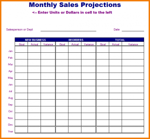 write up template sales projection template monthly sales projections