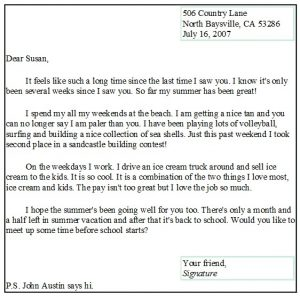 Writing A Letter Format Template Business