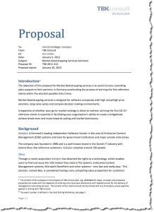 writing a proposal proposal