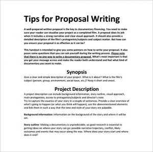 writing a proposal tips for writing proposal pdf download