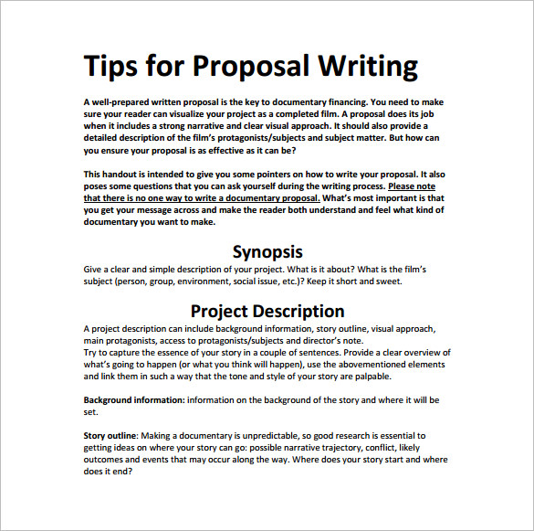 writing a proposal