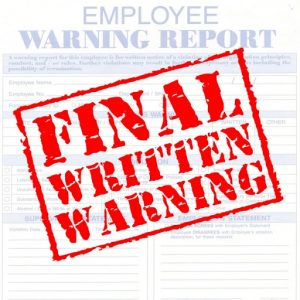 written warning form final written warning