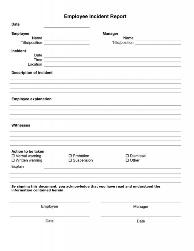 written warning form