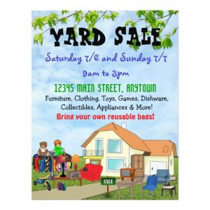yard sale flyer custom yard or garage sale flyers rceddddcceaeedcc vgvyf byvr