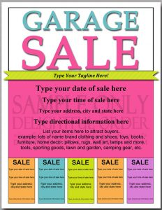 yard sale flyer editable and printable garage sale flyer pdf