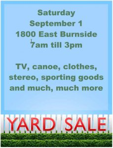 yard sale flyer free yard saleflyer