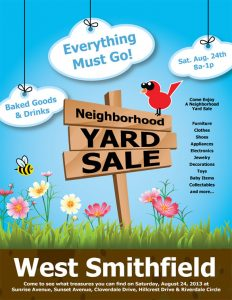 yard sale flyer neighborhood yard sale business flyer template
