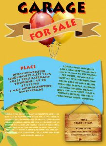 yard sale flyer template garage sale flyer template x