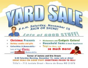 yard sale flyer template yard sale