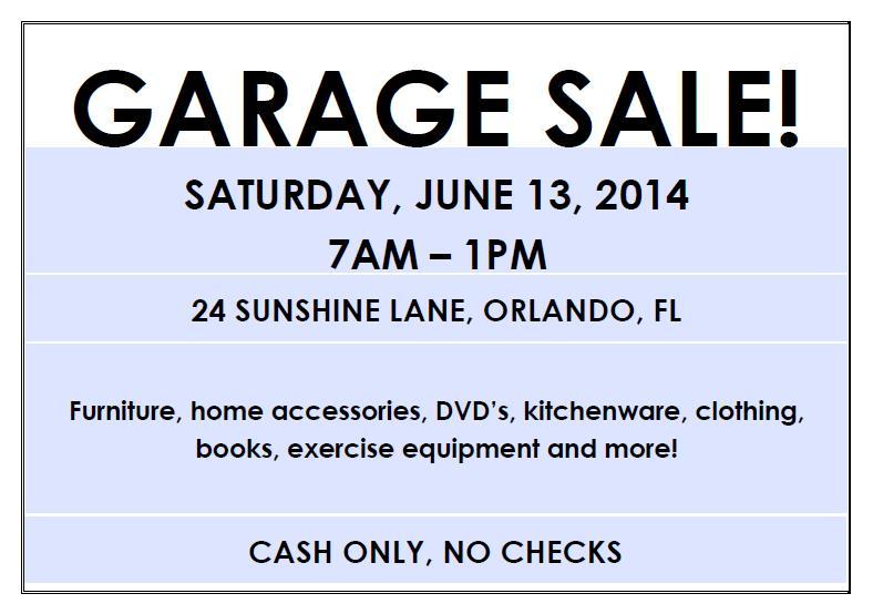 yard sales flyers