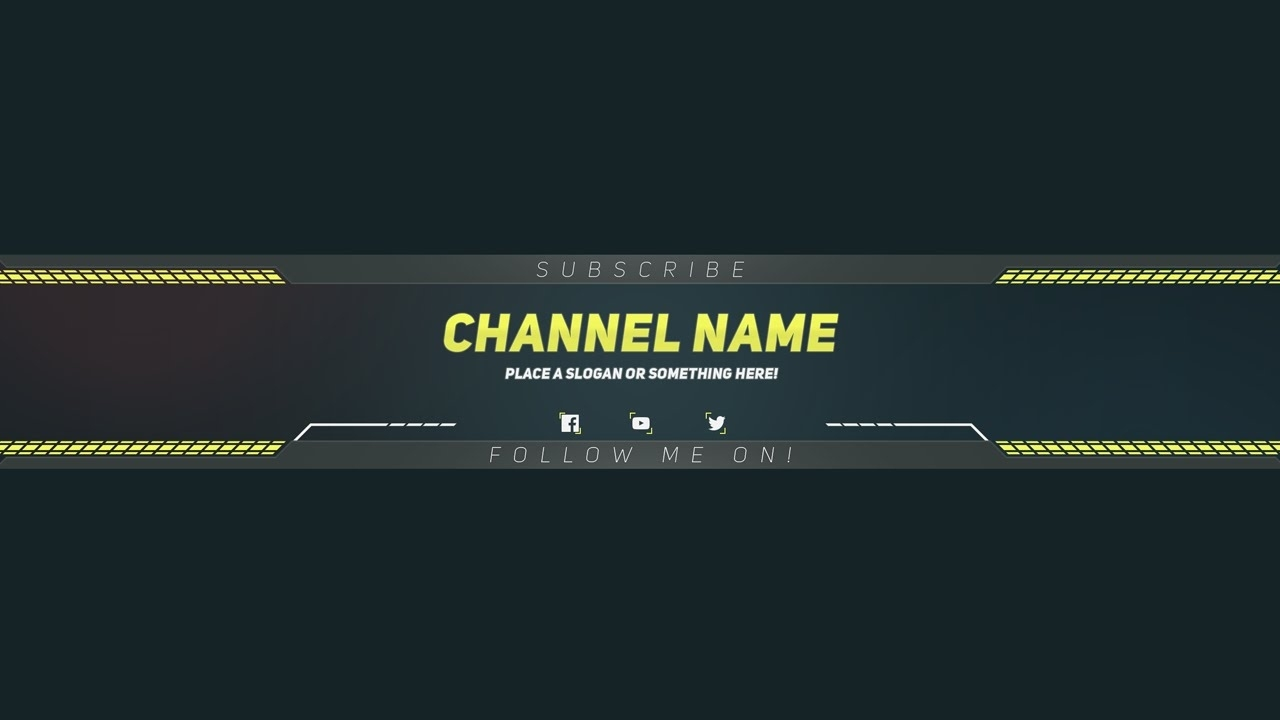 Youtube banner templates template business for Youtube channel picture template
