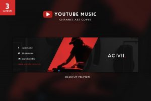 youtube channel art template psd responsive psd youtube channel art banner template