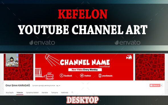 youtube channel picture template - youtube channel art template psd template business