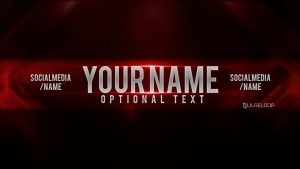 youtube header template lilreloop red youtube banner display